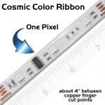 Closeup: 1 of 50 pixels of a Cosmic Color Ribbon