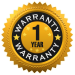 One Year Warranty Badge