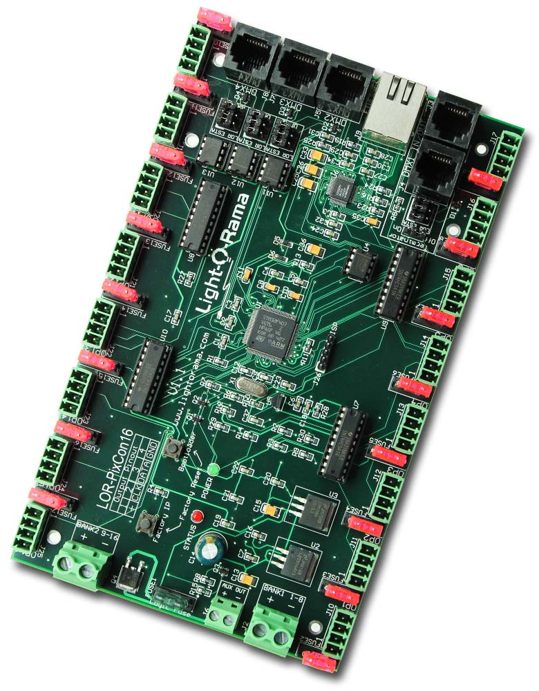 Advanced Smart Pixel Controller With 16 Spi Ports Light