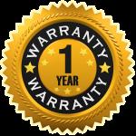 One Year Warranty Badge