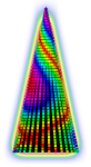 Pixel Tree with butterfly pattern